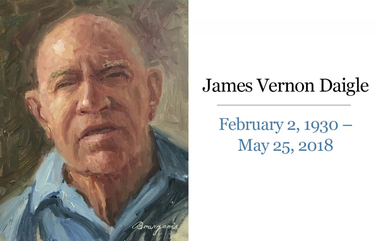Image: James Vernon Daigle, February 2, 1930-May 25, 2018